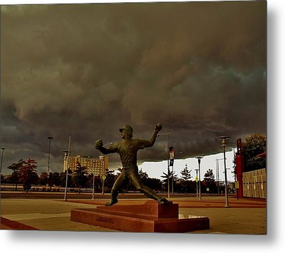 Storm Over Lefty Metal Print by Ed Sweeney