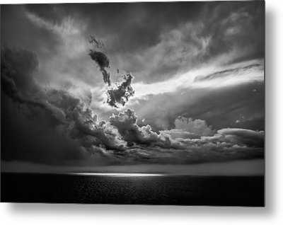 Storm Brewing Metal Print by Maria Robinson