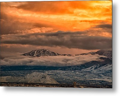 Storm Over Mt Rose Metal Print by Janis Knight