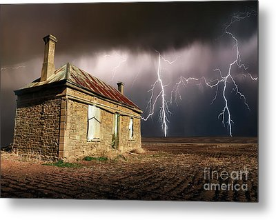 Storm Over Ruin Metal Print by Shannon Rogers