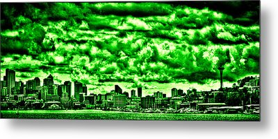 Storm Over The Emerald City Metal Print by David Patterson
