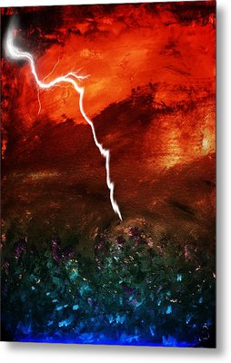 Storm Over Umbria Metal Print