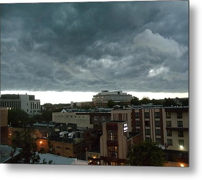 Storm Over West Chester Metal Print by Ed Sweeney
