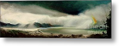 Metal Print featuring the painting Storm by Sorin Apostolescu