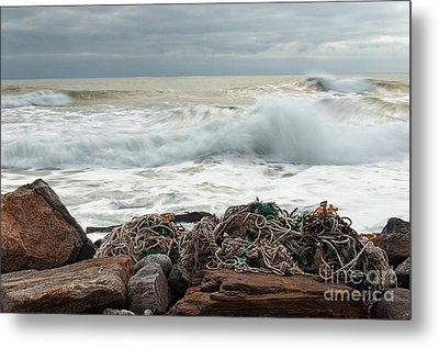 Storm Surf At Rye Beach Metal Print by Sharon Seaward