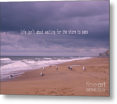 Storm To Come Metal Print by Irina Wardas