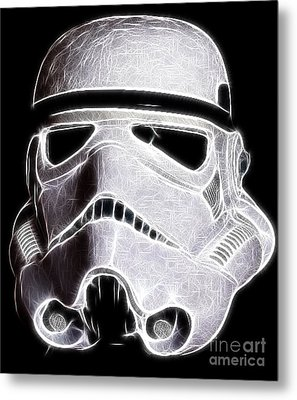 Storm Trooper Helmet Metal Print