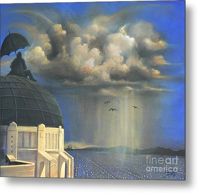 Metal Print featuring the painting Storm Watch At Griffith's by S G