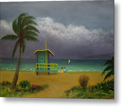 Storm Watchers Metal Print