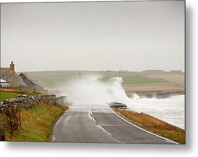 Storm Waves On Metal Print by Ashley Cooper