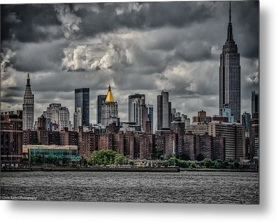Metal Print featuring the photograph Storm Weather Over Nyc by Linda Karlin