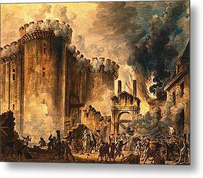 Storming Of The Bastille Metal Print by Jean-Pierre Houel