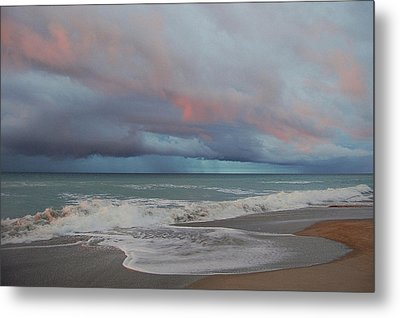 Metal Print featuring the painting Storms Comin' by Mim White