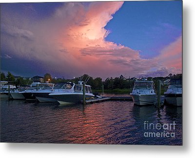 Storms Edge Metal Print by Amazing Jules