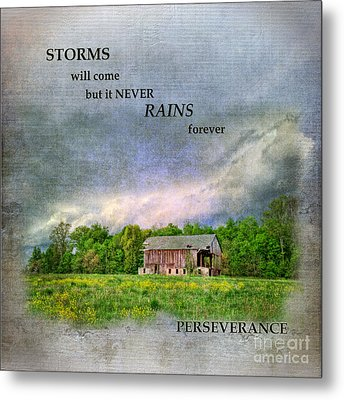 Storms Will Come Metal Print
