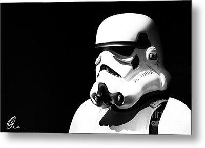 Stormtrooper Metal Print by Chris Thomas