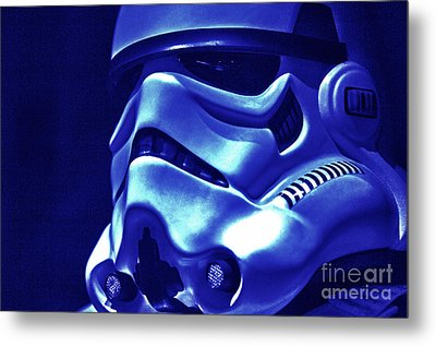Stormtrooper Helmet 21 Metal Print by Micah May