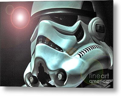 Stormtrooper Helmet 27 Metal Print by Micah May