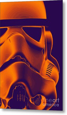 Stormtrooper Helmet 9 Metal Print by Micah May