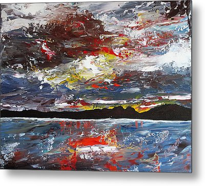 Stormy Bay Metal Print by Donna Mann