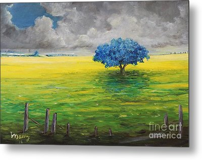 Stormy Clouds Metal Print by Alicia Maury