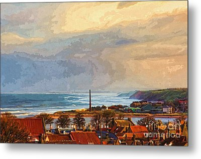 Metal Print featuring the photograph Stormy Day At Berwick - Photo Art by Les Bell