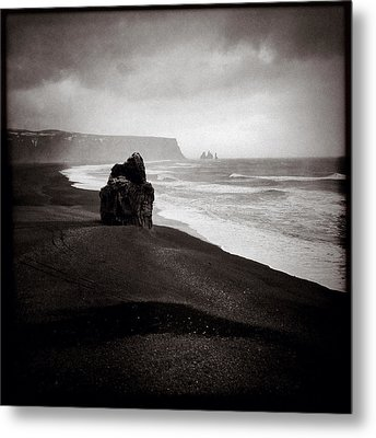 Stormy Day At Dyrholaey Metal Print by Dave Bowman