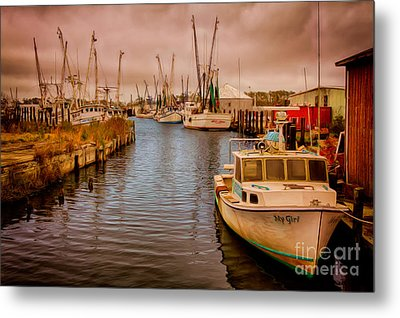 Stormy Day At Englehard - Outer Banks II Metal Print