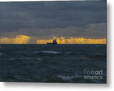 Stormy Falmouth Metal Print
