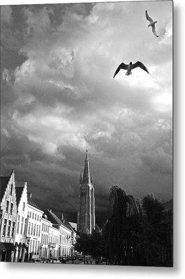 Stormy Gulls  Metal Print