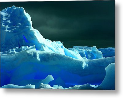 Metal Print featuring the photograph Stormy Icebergs by Amanda Stadther