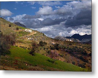 Stormy Mediterranean Landscape Metal Print by Goyo Ambrosio