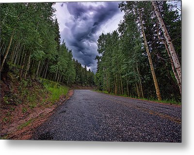 Stormy Mountain Road Metal Print by Thomas Zimmerman