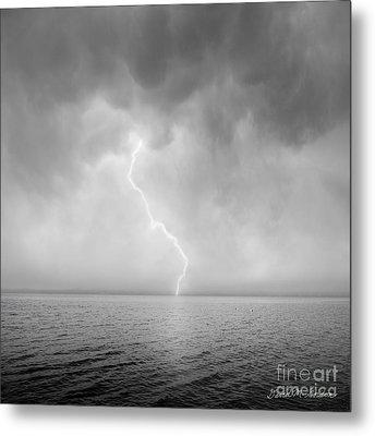 Stormy Night  Metal Print by Dave Gordon