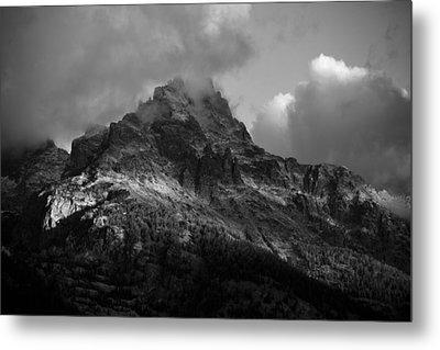 Stormy Peaks Metal Print