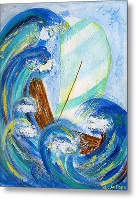 Stormy Sails Metal Print by Diane Pape