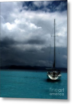 Stormy Sails Metal Print by Heather Green