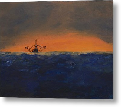Stormy Sea Metal Print by J Cheyenne Howell