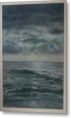 Stormy Sea Metal Print by Paez  Antonio