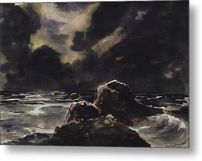 Stormy Sea Metal Print by Sam Sidders