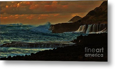 Stormy Seas Metal Print by Craig Wood