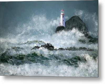 Stormy Seas Metal Print by Michael Malicoat