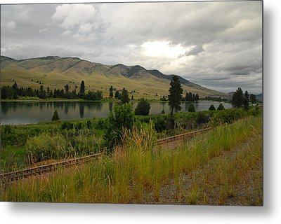 Stormy Skies Over Montana Metal Print by Larry Moloney