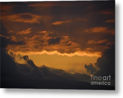 Stormy Sky At Sunset Metal Print by Sami Sarkis