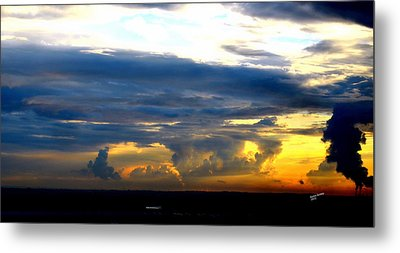 Metal Print featuring the photograph Stormy Sky by Karen Kersey
