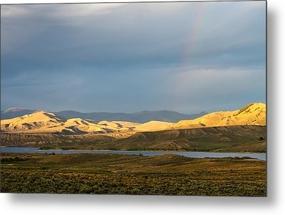Stormy Sky With Rays Of Sunshine Metal Print