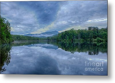 Stormy Sunrise Over Price Lake - Blue Ridge Parkway I Metal Print by Dan Carmichael