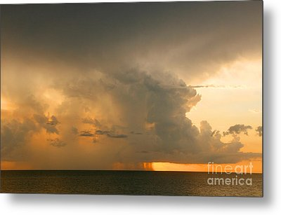 Metal Print featuring the photograph Stormy Sunset by Mariarosa Rockefeller
