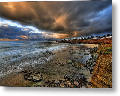 Stormy Sunset Metal Print by Peter Tellone