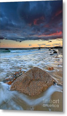 Stormy Sunset Seascape Metal Print by Katherine Gendreau